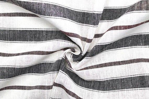 tissu lin viscose coton rayure luna noir bordeaux de qualite tissu au metre tissu pas cher alltissus com