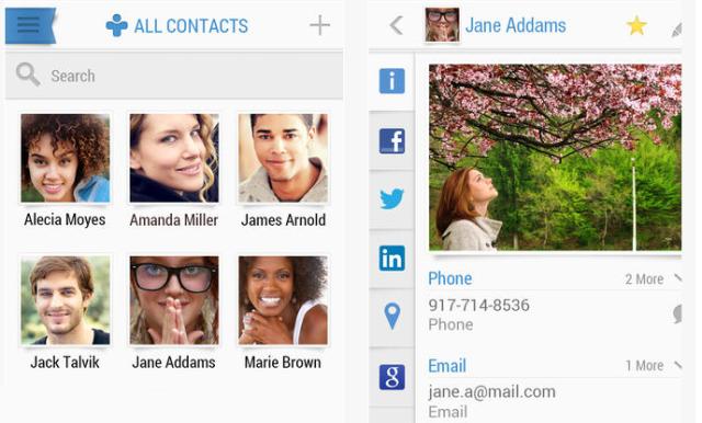 Contact plus app