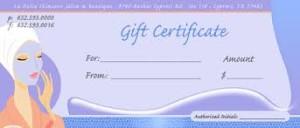Spa Certificate