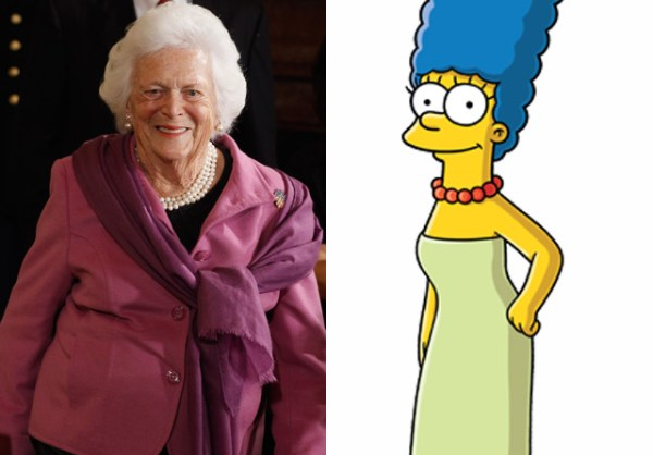 Former First Lady Barbara Bush received a personal letter from Marge Simpson