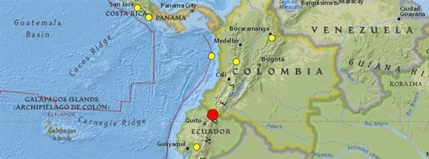 Землетрясение В Эквадоре-Колумбии