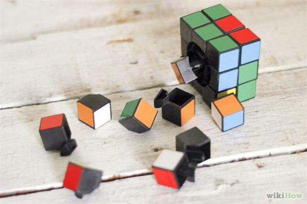 The puzzle is made up of 26 miniature pieces known as 'cubelets' or 'cubies'
