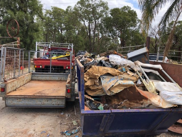 Red Hill collected rubbish
