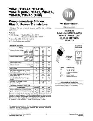 TIP41C Datasheet, Equivalent, Cross Reference Search