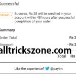 paytm free25 Rs-25 free wallet balance