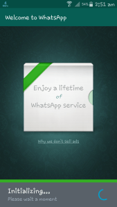 Initializing WhatsApp