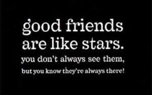 good-friends-are-like-stars-whatsapp-dp