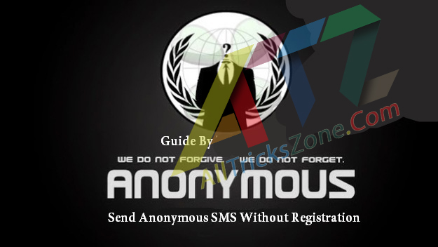 Send Anonymous sms without registration