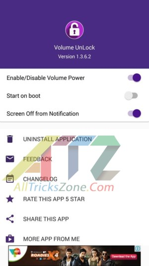 turn on android with volume button