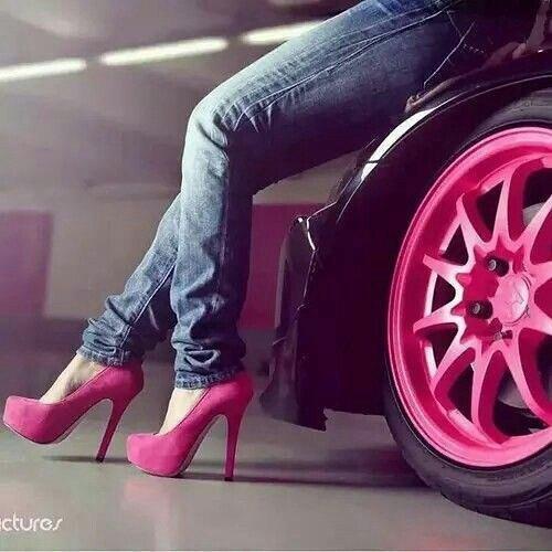 Stylish Girl Pink Match DP