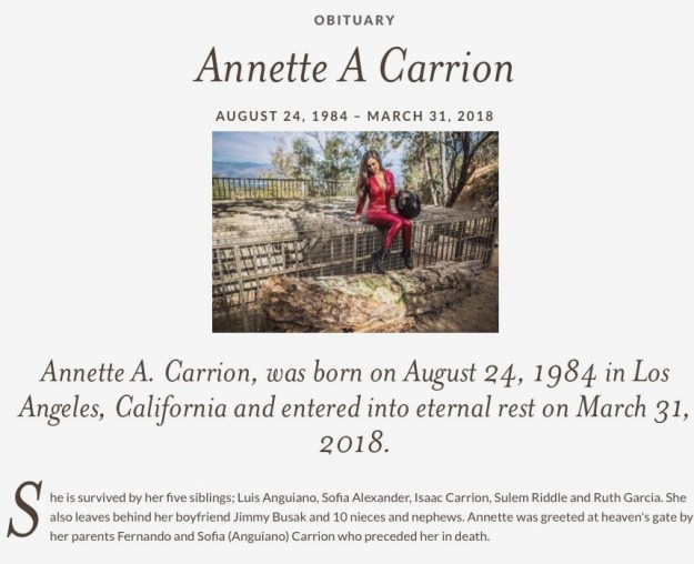 Annette Carrion obituary