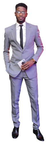 Classic two button grey suit