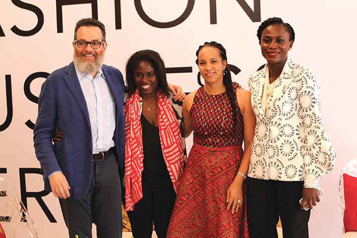 Simone Cipriani, Abrima Erwiah, Patricia Ojora and Omawumi Akerele (1)