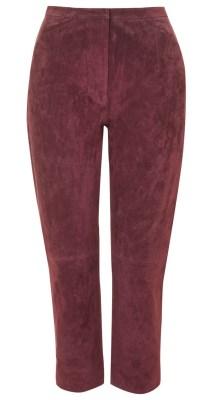 Zara burgundy suede pants