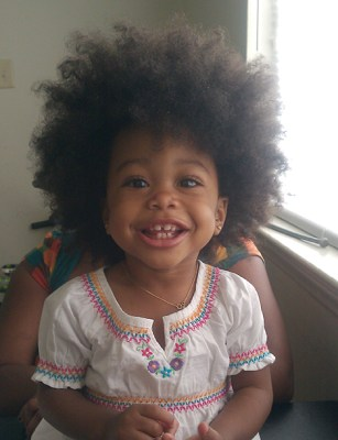 Natural afro on little girl 1a