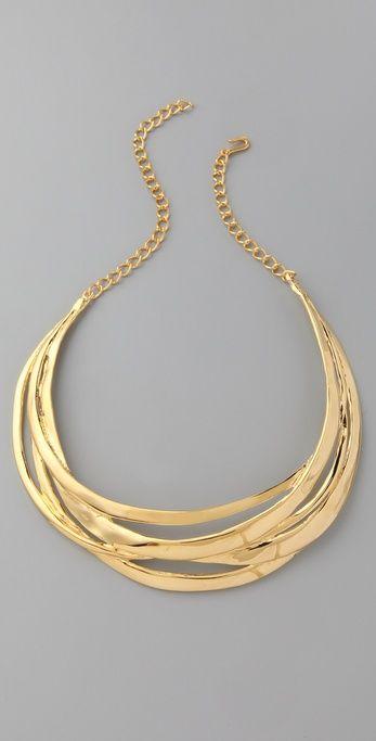Polished Multi Row Necklace