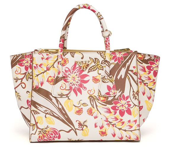 Prada oversized floral bag