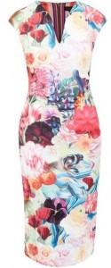 Ted Baker Odeela Floral Swirl bodycon dress
