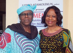 Pix from left Dr (Mrs) Tokunbo Awolowo-Dosumu and Dr (Mrs) Femi Ogunsanya, founder, Oxbridge Tutorial College at the event