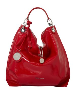 Red patent leather bag from Karen Millen