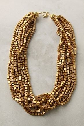 gold chunky statement necklace