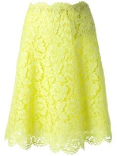 Valentino Yellow Lace Skirt