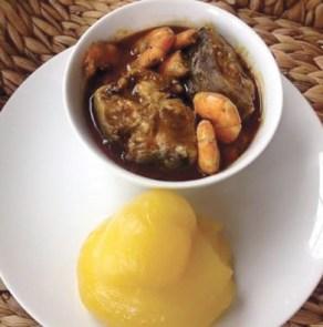 Banga soup and Starch