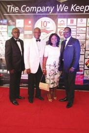 L-R: Ademolasoye Awonaike, Olusoji Oyawoye, Mary Akpobome with husband Alibaba Akpobome