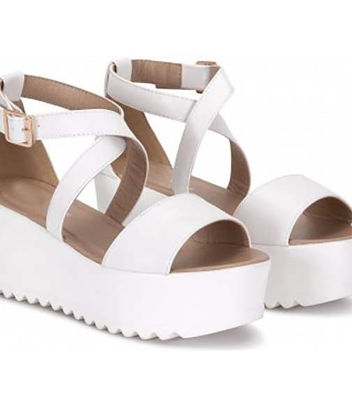 white strapy sandals
