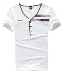white-v-neck-t-shirt