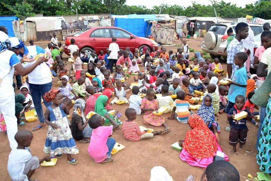 children-being-fed-on