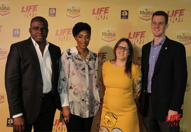 Uzo Onwuchekwa, Mo Abudu , Heidi Uys, and Rob Hobart