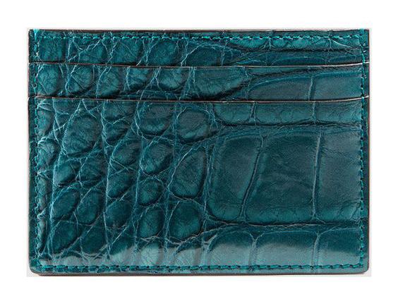 Gucci crocodile card case