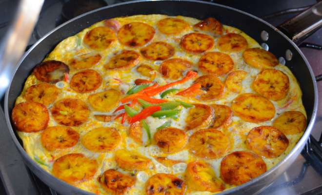 Here's how to make this delicious Plantain and Egg Fritata