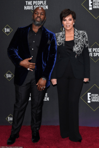 Kris Jenner and boyfriend at the peoples choice award