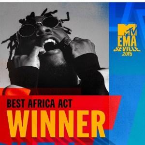 Burna Boy wins MTV EMAs award.