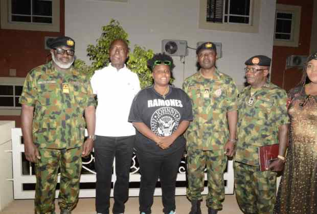 Ned Nwoko, Chukwuebuka Anyaduba, Teni, welcome Nigerian Armed Forces ahead of the Unsung Heroes Concert