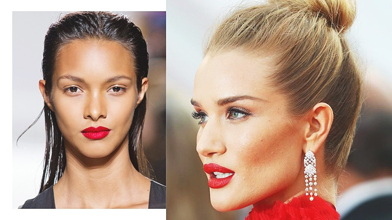 red lips makeup trend 2017