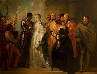 The_Return of Othello, from Othello,_Act_II,_Scene_ii painting by Thomas Stothard
