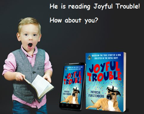 He is reading Joyful Trouble myBook.to/JoyfulTrouble