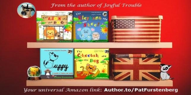 Children's books by Patricia Furstenberg celebrating diversity, books history fiction dog