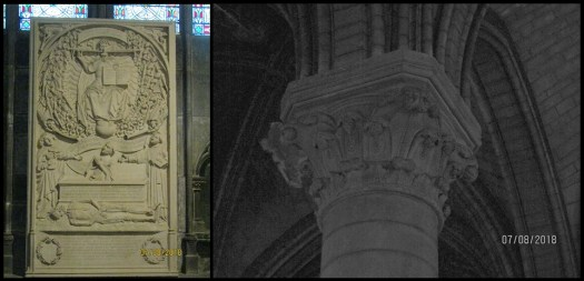 Notre Dame Cathedral - interior: stone carving and column detail - photo by Lysandra Furstenberg