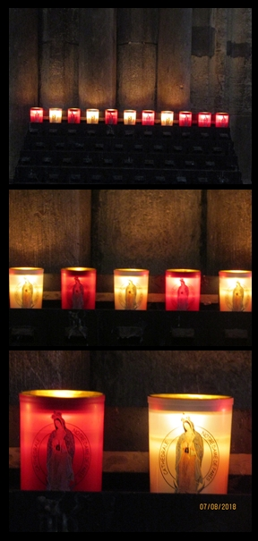 Notre Dame Cathedral - prayer candles - photo by Lysandra Furstenberg