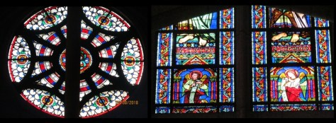 Notre Dame Cathedral - stained glass windows details - photo by Lysandra Furstenberg