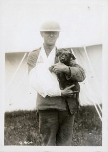 Canadian wounded soldier and the mascot puppy that put a smile on his face