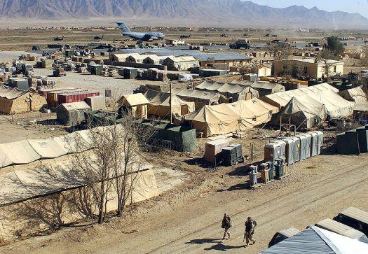 Military camp at Bagram, Afghanistan. Source Wikipedia
