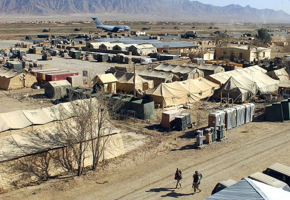 Military camp at Bagram, Afghanistan. Source Wikipedia
