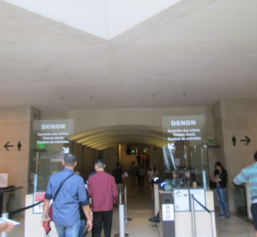 Fastest Route to Mona Lisa, Louvre, Paris, Signs that you have reached the DENON wing - fastest route to see the Mona Lisa