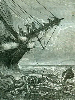 Seafarers fighting the giant squid