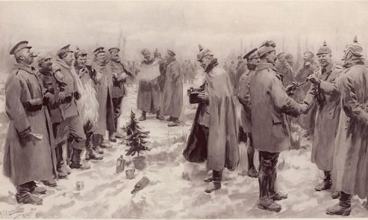 WW1 Christmas Truce song and  Illustrated London News – the Christmas Truce  1914 – source wikipedia